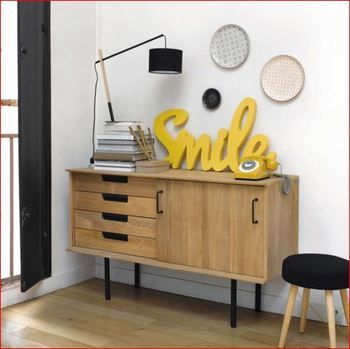 jaune d co un objet tendance jaune en bois cette. Black Bedroom Furniture Sets. Home Design Ideas