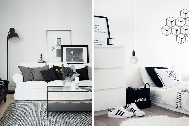 Todas las claves para decorar en blanco y negro - Decoracion en blanco y negro ...