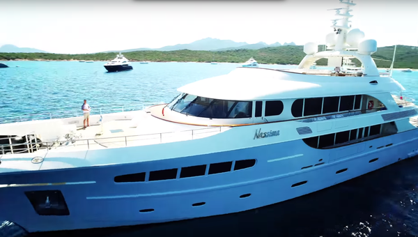 The Azimut 77 is caught on drone off Pompano Beach Fl