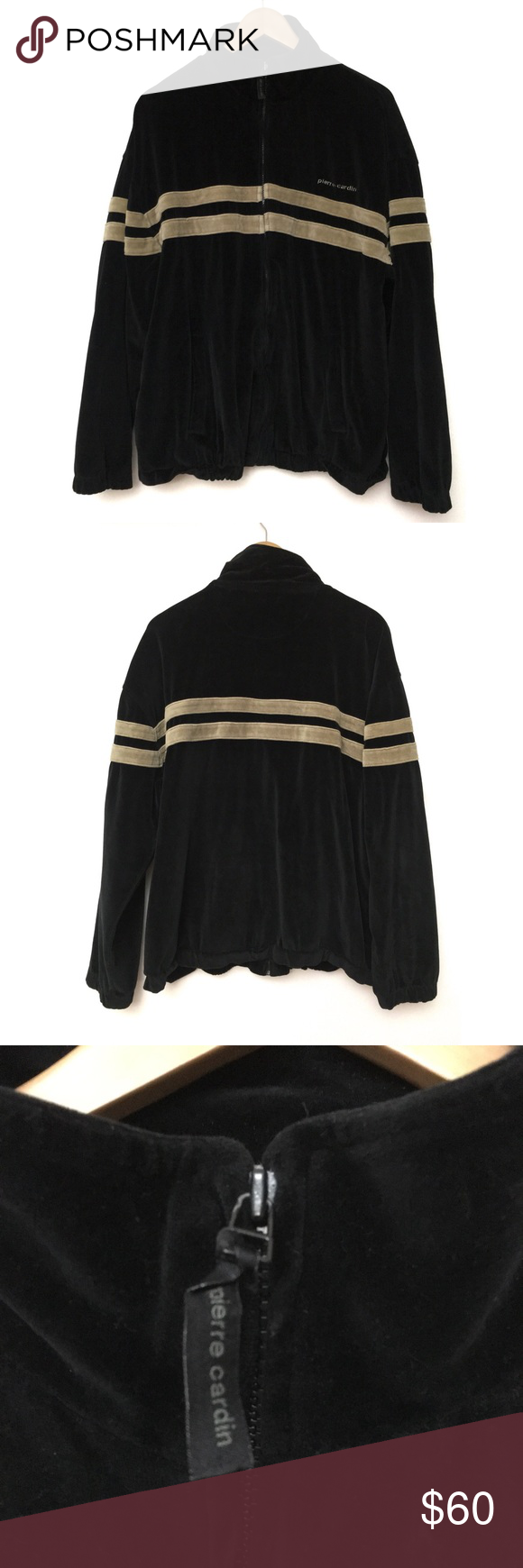 Vintage 90s Pierre Cardin Velour Track Jacket Track Jackets Pierre Cardin Men S Coats And Jackets