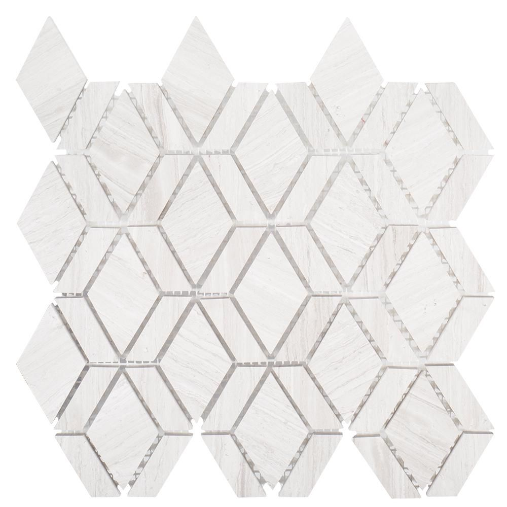Jeff Lewis Crescent 10-1/4 in. x 11 in. x 8 mm Limestone Mosaic Tile ...