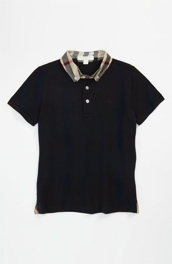 cd65fa14 Burberry Check Collar Polo (Toddler, Little Boys & Big Boys) available at  #Nordstrom