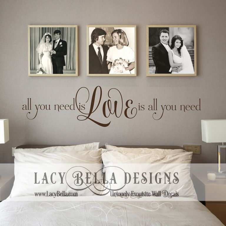 Beatles Song Lyric Wall Decal Master Bedroom Quote