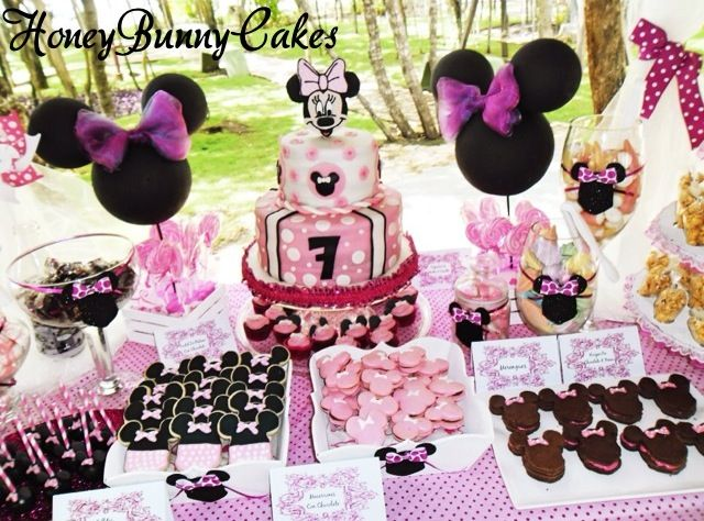Minnie Mouse Dessert Table Minnie Party Fiesta Mickey Mouse Minnie Mouse Party