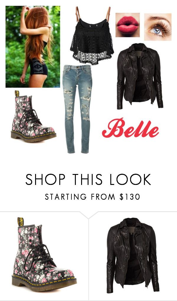 """""""Belle"""" by skyexxxx ❤ liked on Polyvore featuring COVERGIRL, Dr. Martens, By eLUXE, MuuBaa and Yves Saint Laurent"""