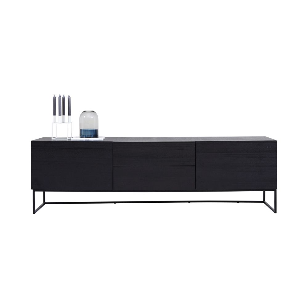 Modern Designer Balmain TV/Entertainment Unit - Black Ash Wood