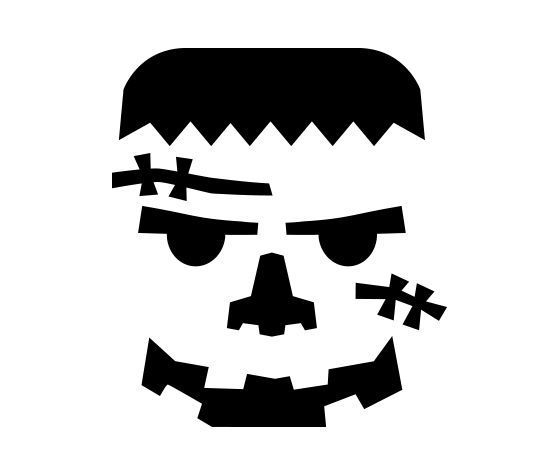graphic about Printable Pumpkin Face titled Printable frankenstein pumpkin carving behavior template absolutely free