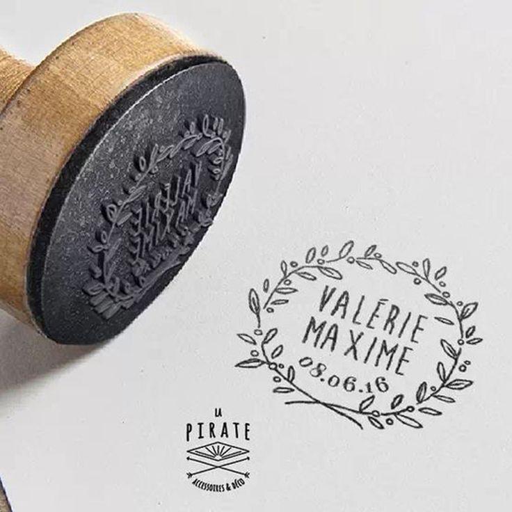Idée bricolage: un tampon personnalisé – Pinterest: 10 bricolage pour un petit bourgeon de mariage …   – Mariage