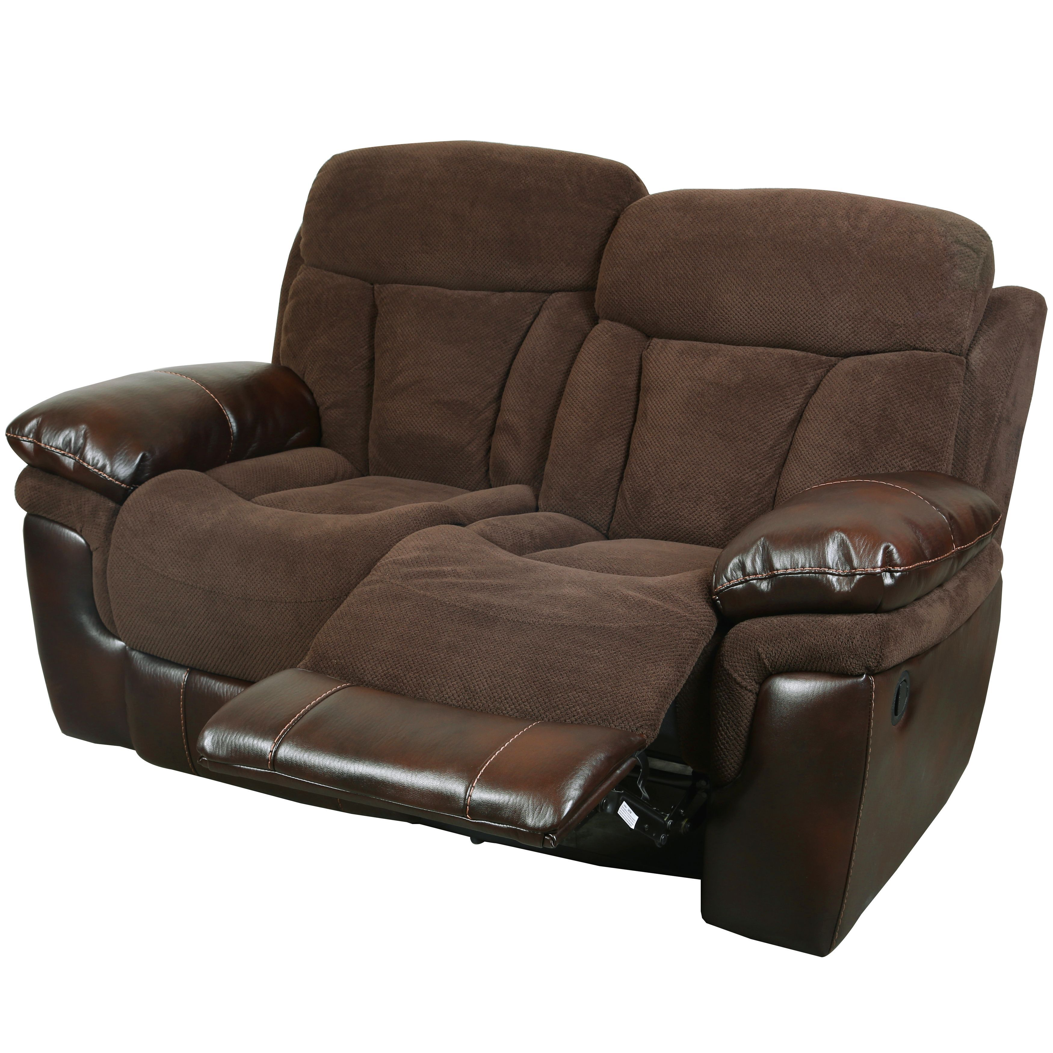 Porter Buck Chocolate Microfiber And Faux Leather