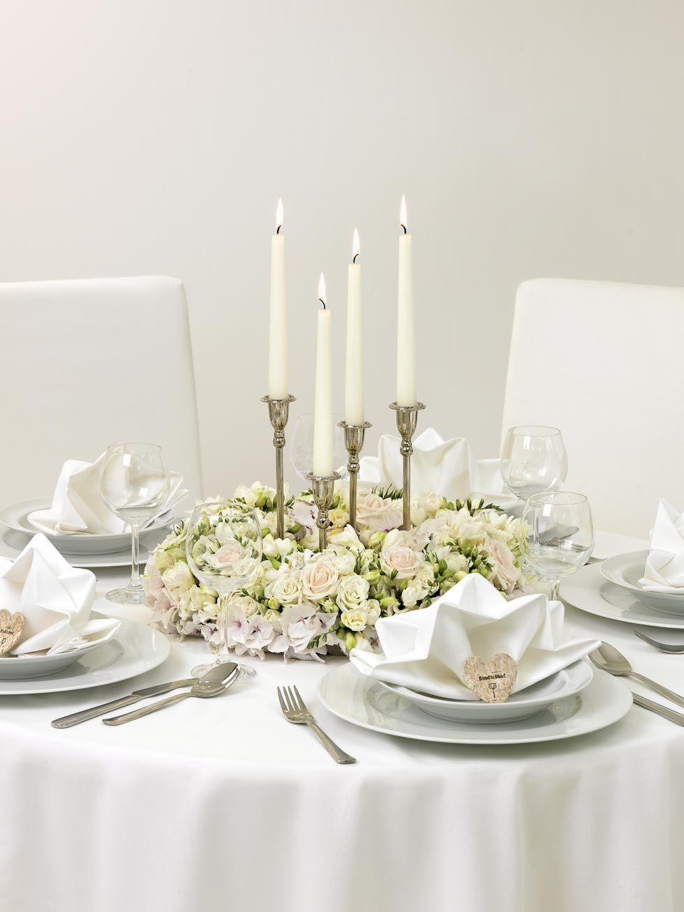 Ein wahres Bltenmeer Blumenkranz DIY fr die Tischdeko
