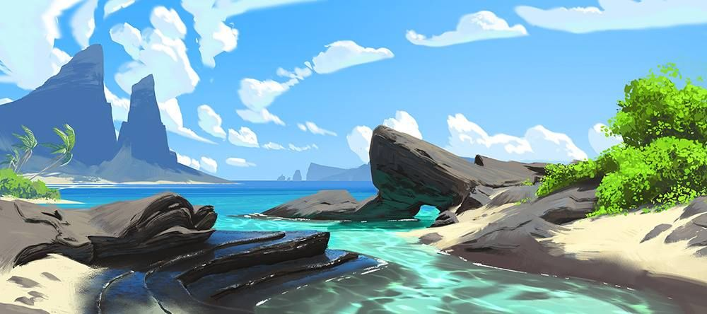Image May Contain One Or More People Cloud Ocean Sky Nature And Outdoor Concept Art World Pixar Concept Art Moana Concept Art