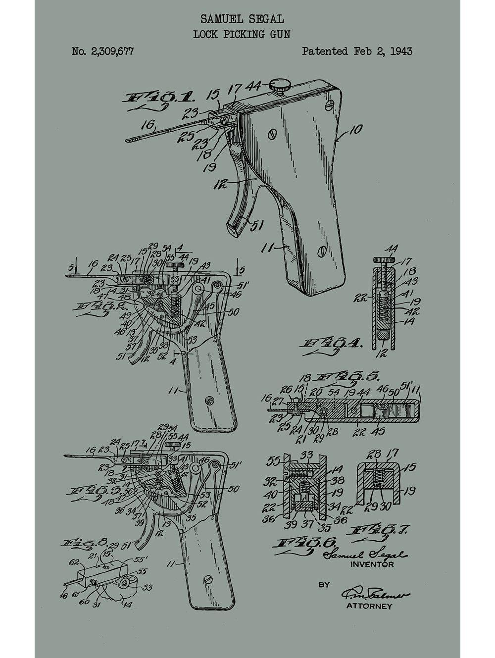 lock picking apparatus samuel segal 1943 [ 1000 x 1329 Pixel ]