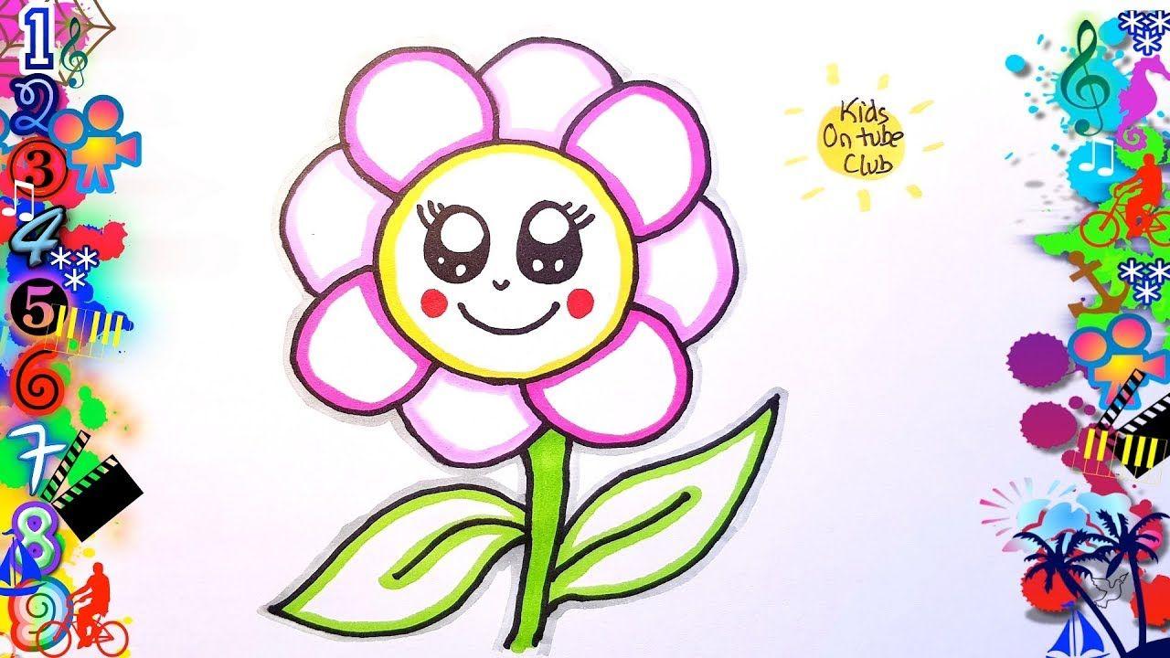 Como Dibujar Flores Kawaii Facil Para Ninos Dibujos