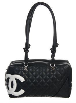 Get one of the hottest styles of the season! The Chanel Quilted Lambskin  Cambon Bowler Handbag Shoulder Bag is a top 10 member favorite on Tradesy. b2dc1caeb90a6