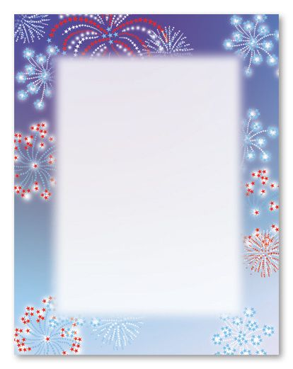 4th of july border paper