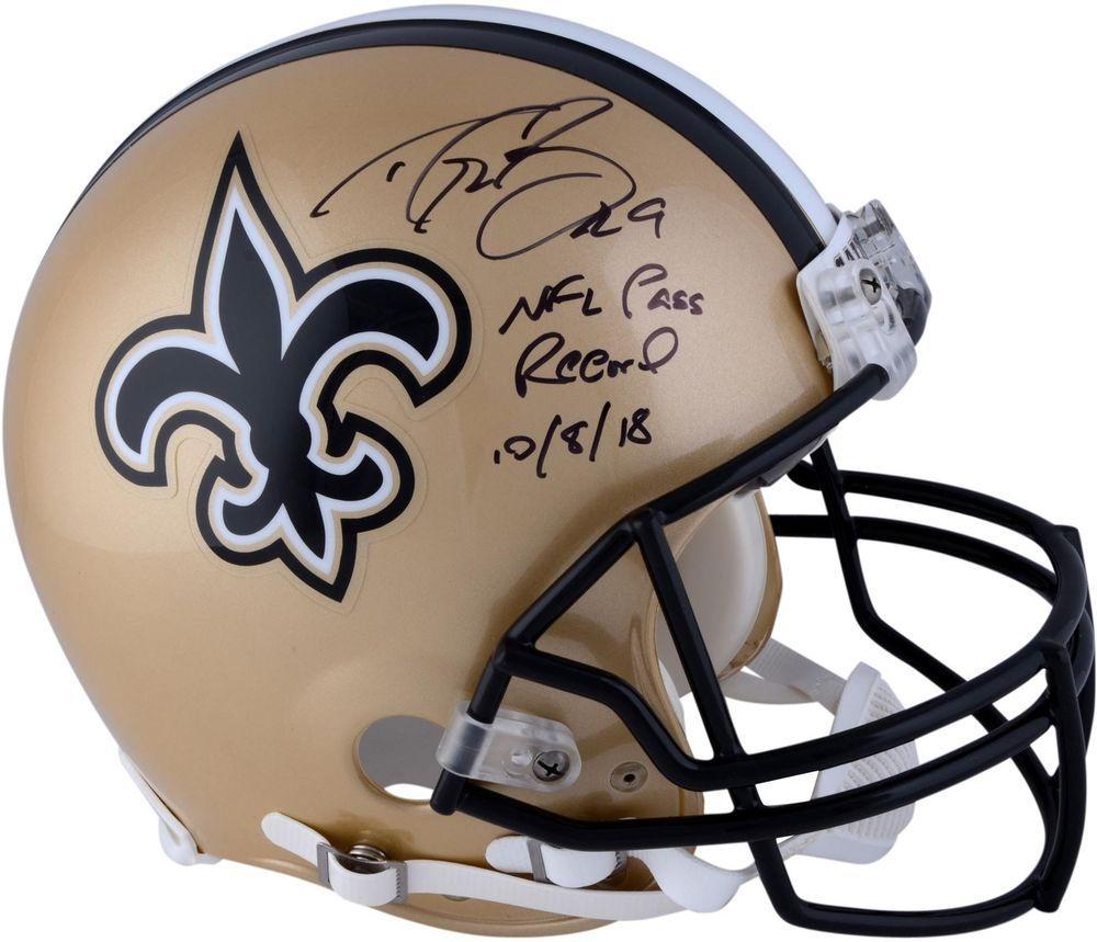 Autographed Drew Brees Saints Helmet Fanatics Authentic COA Item 8962392   FootballHelmet  sportsmemorabilia  autograph 4df3d93e6