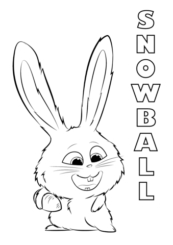 Snowball From The Secret Life Of Pets Coloring Page Coloring