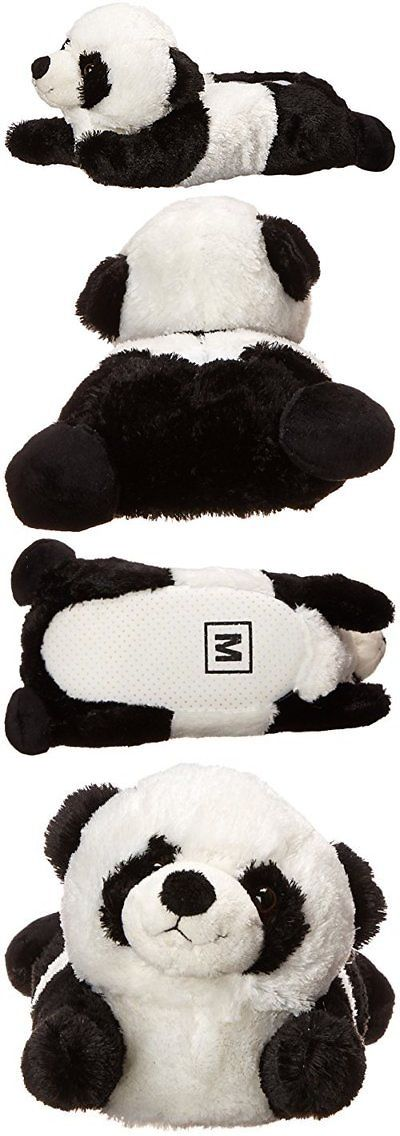 ff05530d61c8c Slippers 163550  Adult Medium Unisex Black White Panda Animal Plush Fuzzy  Slippers New -  BUY IT NOW ONLY   30.09 on eBay!