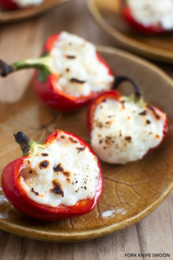Goat Cheese Stuffed Cherry Peppers Fork Knife Swoon Recipe Stuffed Peppers Recipes Food