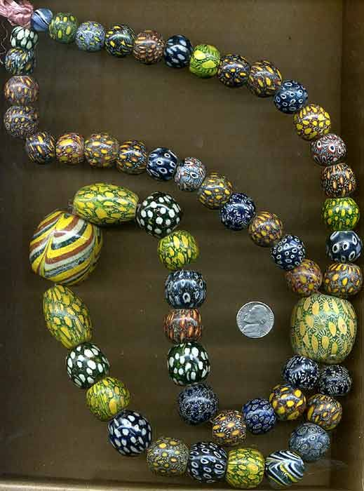 A fantastic collection of ancient Indonesian Pelangi / Jatim Glass Beads | Price…