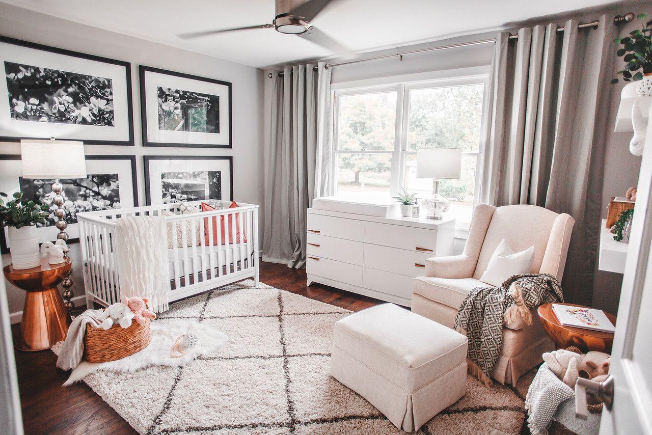 Best Baby Girl Modern Eclectic Nursery White Monochrome Gender 400 x 300