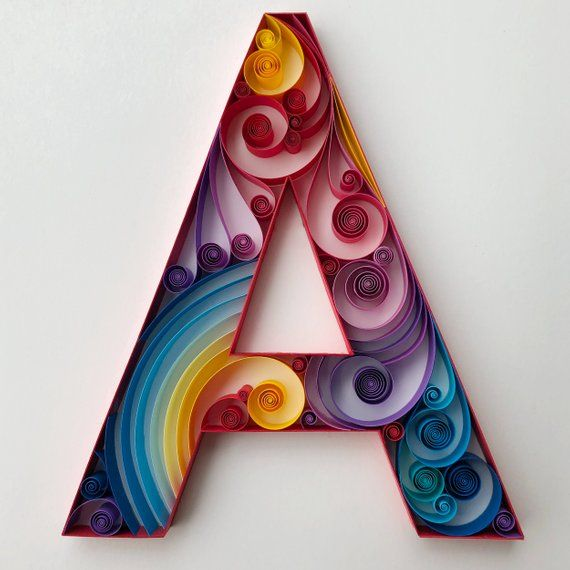 Letter  quilled art home decor wall for her him also rh pinterest