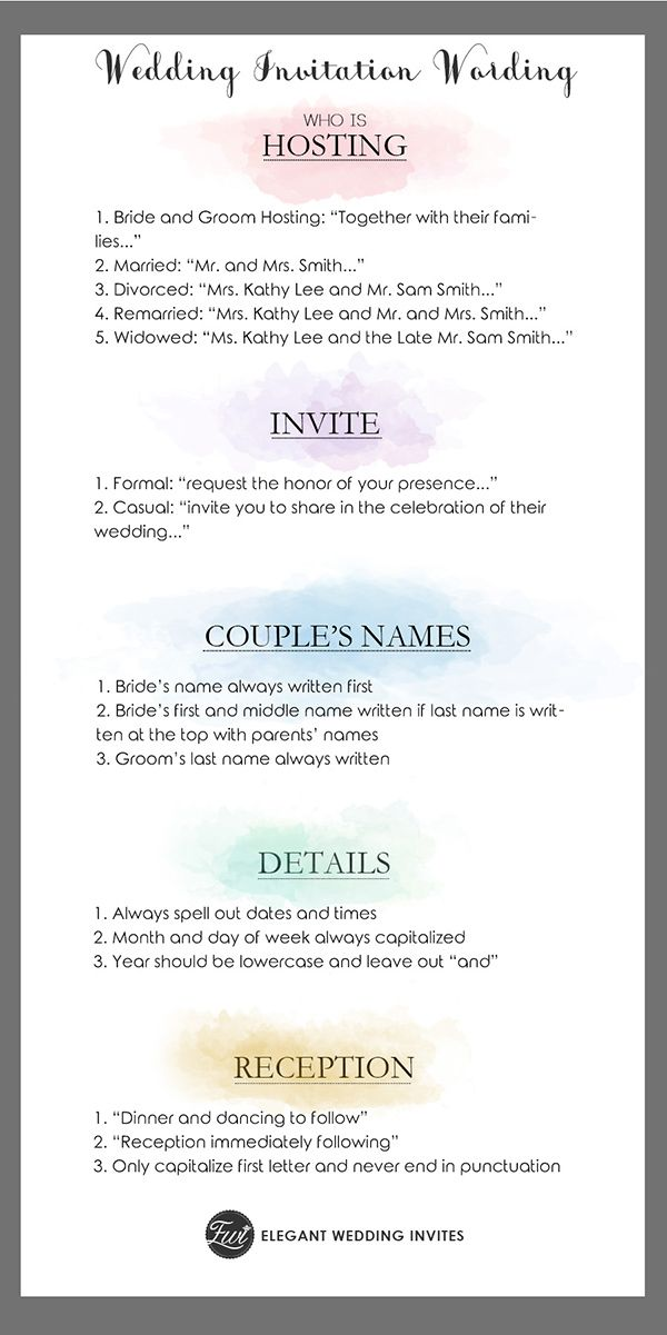 Simple wedding invitation wording guide wedding ideas pinterest simple wedding invitation wording guide filmwisefo