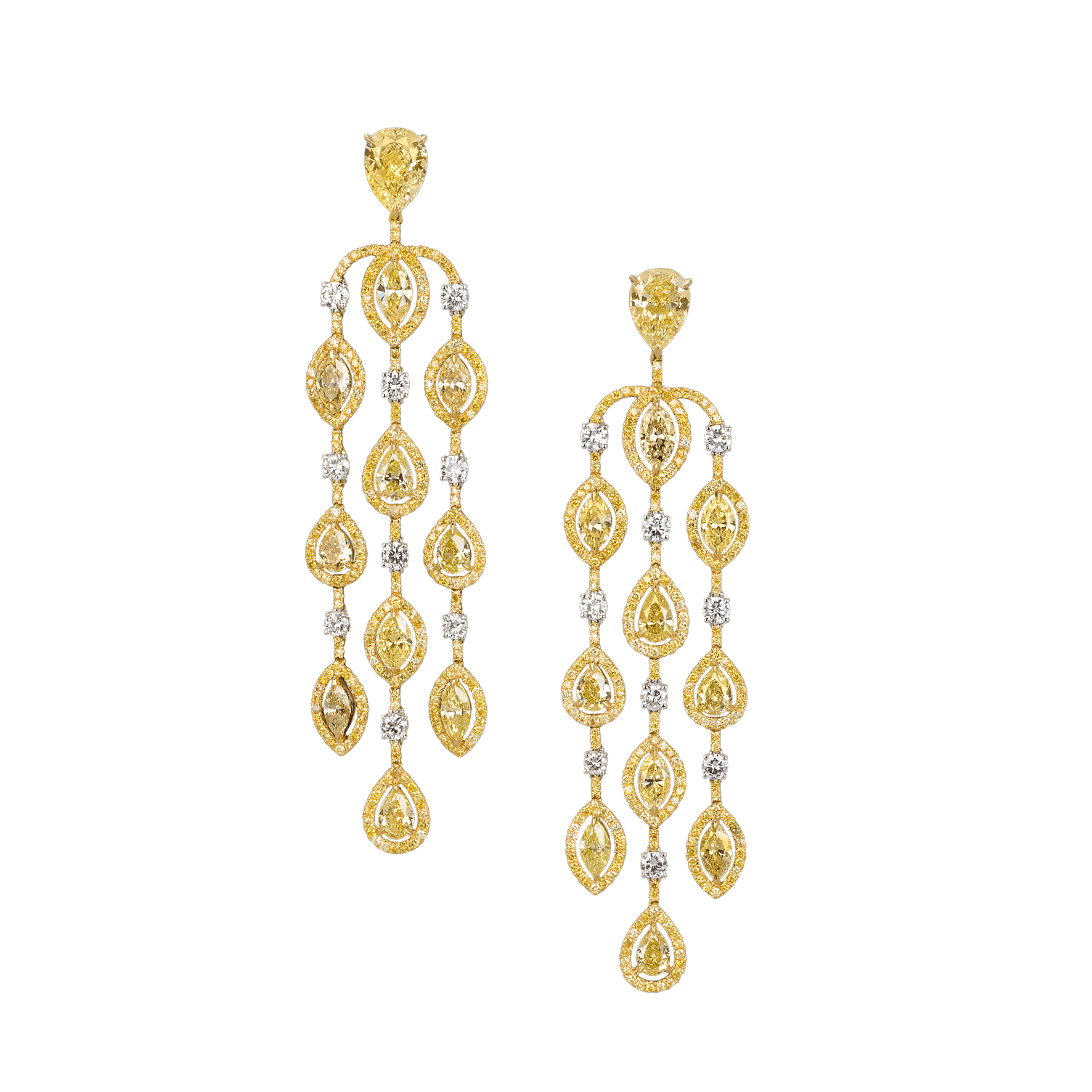 Fancy yellow diamond chandelier earrings by moussaieff fancy yellow diamond chandelier earrings by moussaieff arubaitofo Choice Image