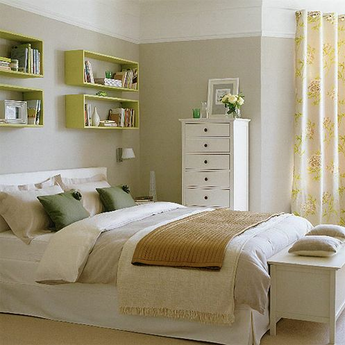 Gray walls with white bed  Ikea Hemnes. One Bedroom  Four Ways    Bedrooms  Tall skinny dresser and Dresser