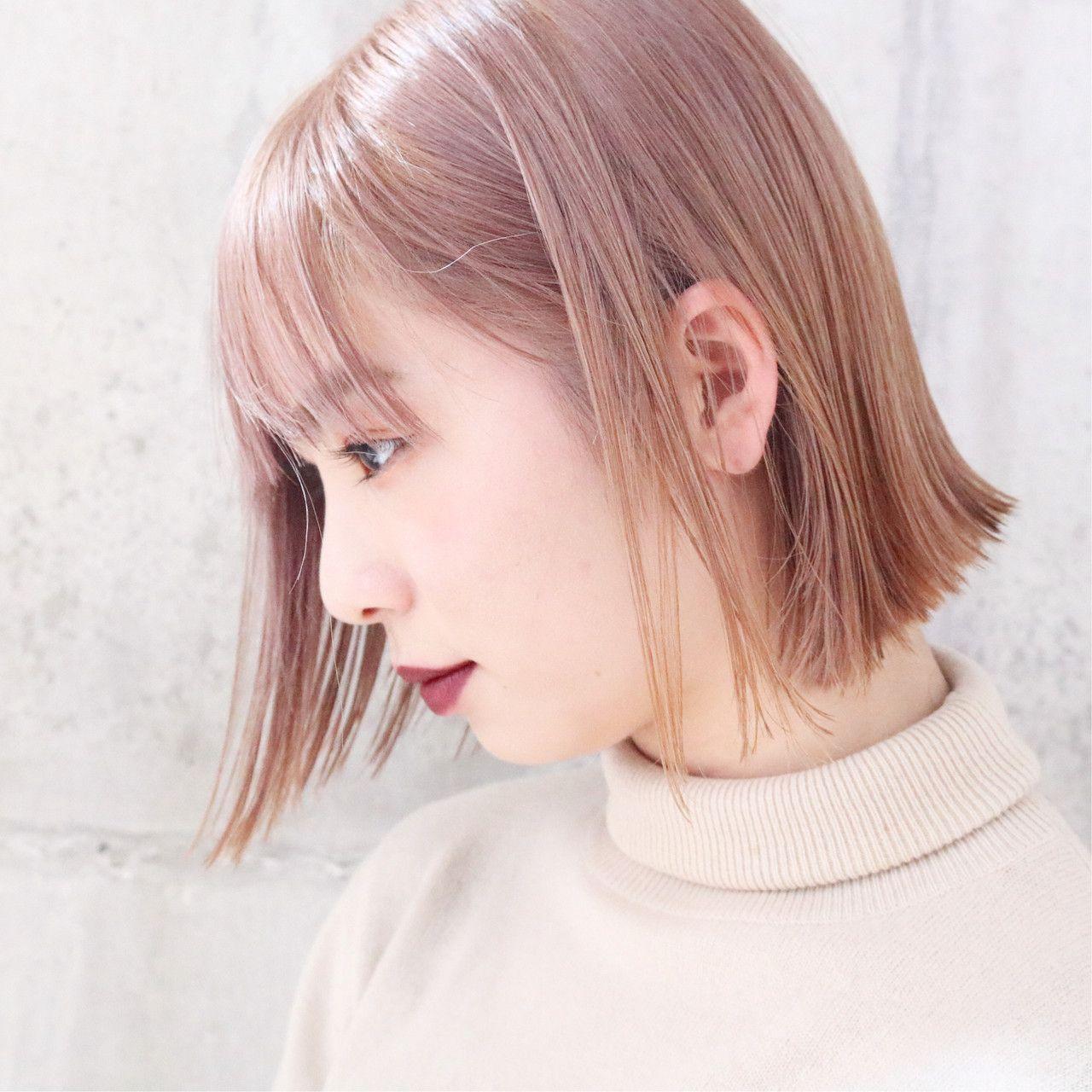 ブリーチなしでも発色キレイ ピンクベージュカラー特集 Hair 髪