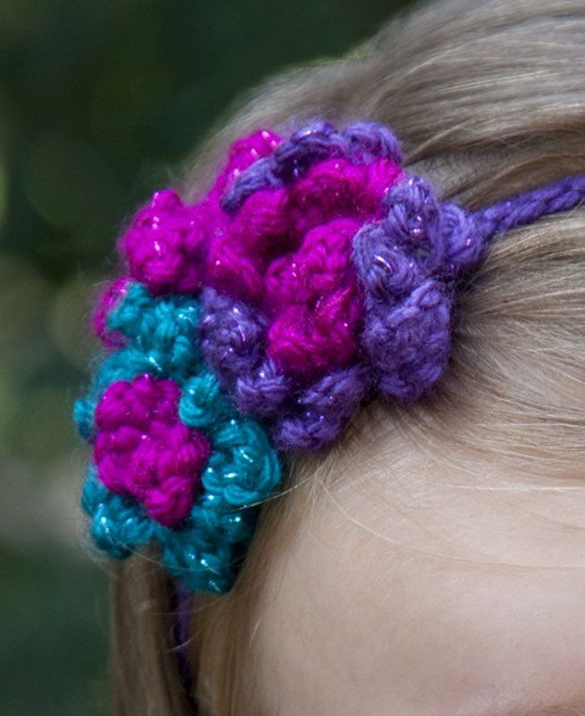 Crochet Headband With Flower Pattern Tutorial : Crochet Flower Headband - Tutorial Crochet - Kids ...
