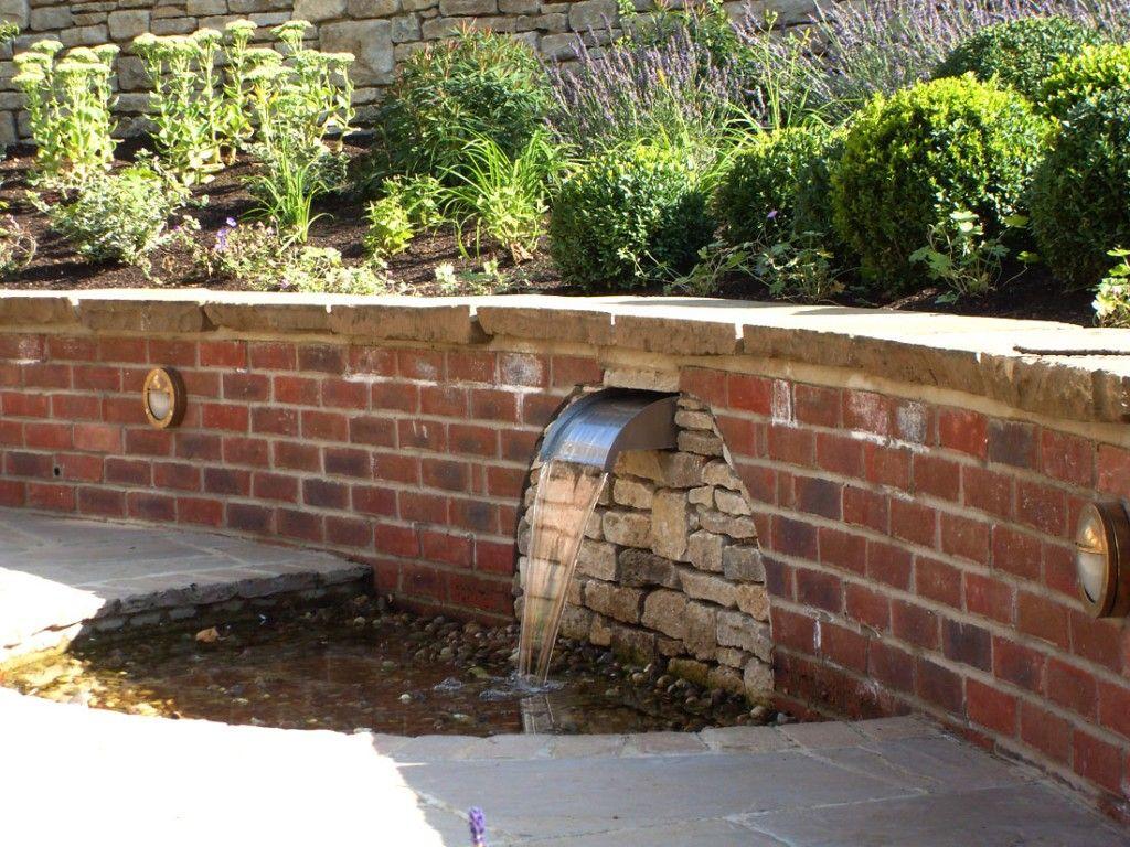 brick garden wall designs | Water Water Everywhere | Pinterest ...