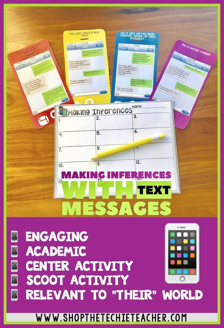Students will have a blast practicing making inferences with text