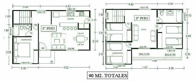 Planos para construir casas de dos pisos plomeria for Planos de casas de 2 pisos