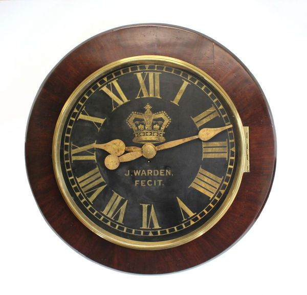 Very Large Antique Wall Clock By J Warden In 2020 Clock