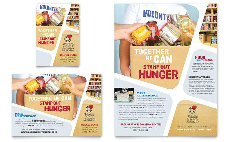 Food Bank Flyer Ad Template Design Print Design Pinterest