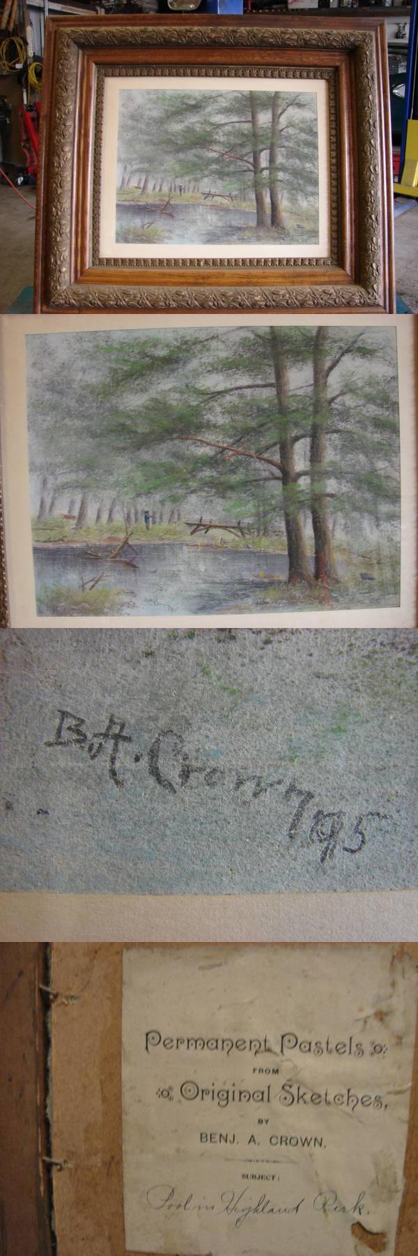 Selling Original Pastel by Benj A. Crown 1895 - $250 ...