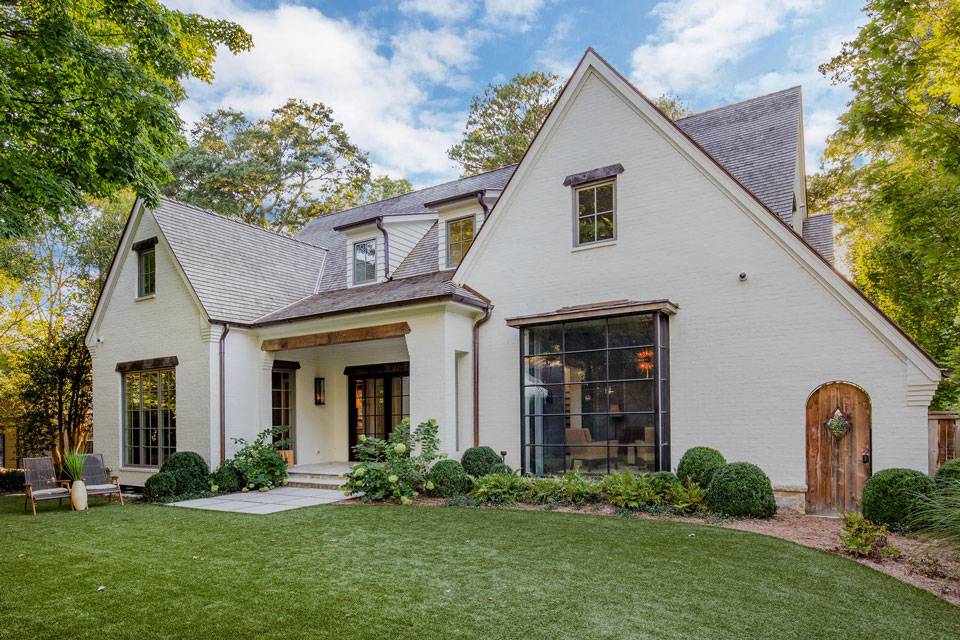 Hammersmith Atlanta An Upscale General Contractor House Exterior Blue Houston Houses Architecture Details