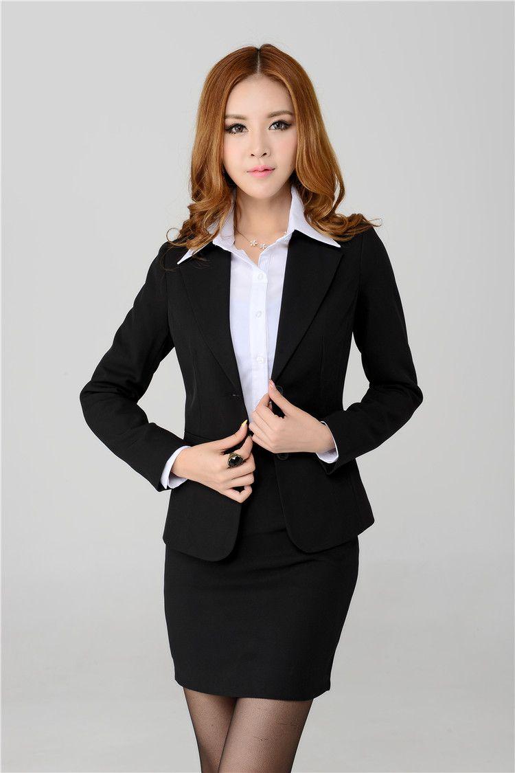 New Plus Size 4XL Spring Autumn Women Skirt Suits With Blazer ...