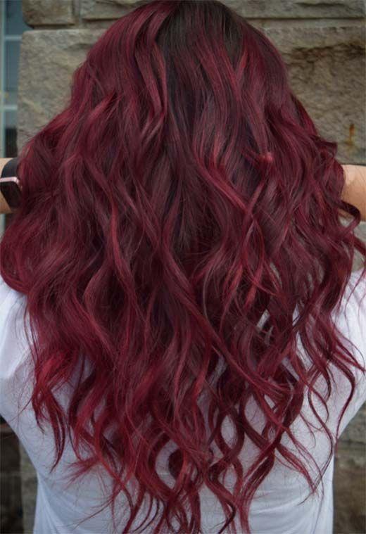 Burgunder Haarfarbe Ideen zu lieben (49+Bild), #BraidFrisuren #Burgunder #Eazy #frisuren2020 #frisurendamen #Glam #fallhaircolorforbrunettes