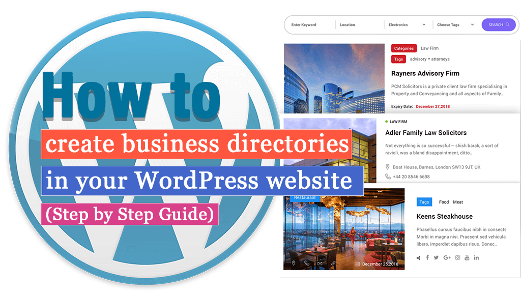 How To Create Business Directories In Your Wordpress Website Druwp Xyz Wordpress Website Pinterest For Business Online Business