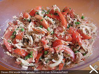 Illes leichter und leckerer Thunfisch - Tomaten - Salat von Illepille | Chefkoch