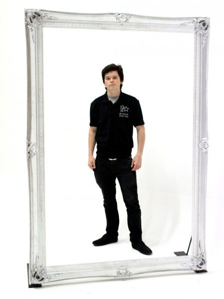 Giant Silver Frame   Hire Frames   Prop Hire UK   Event Prop Hire ...
