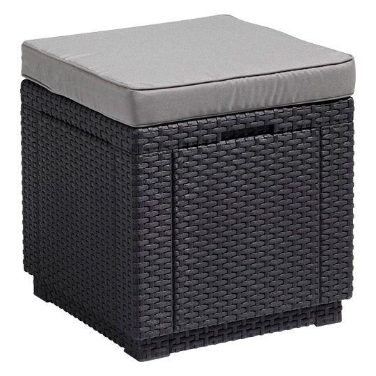 Allibert Cube Sitzhocker H 39 X B 42 X T 42 Cm Mit Stauraum
