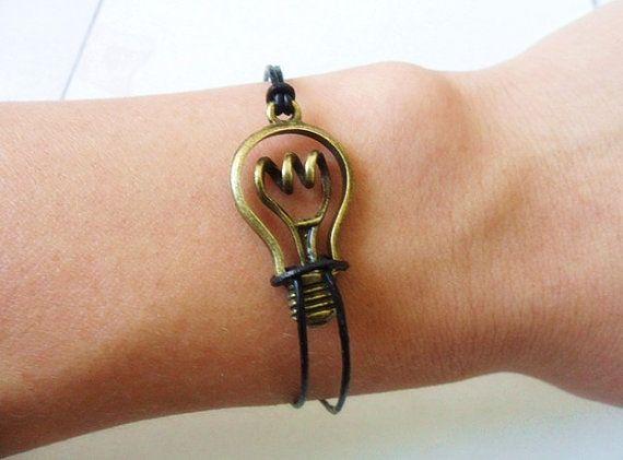 adjustable bronze bulb wrist bracelet simple by braceletbanglecase, $2.98