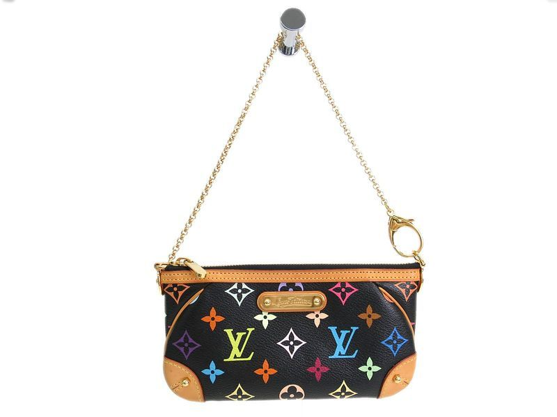 e6f9260b5893 LOUIS  VUITTON Mila Clutch MM Hand bag Monogram Multicolor M60097  (BF083584). Authenticity