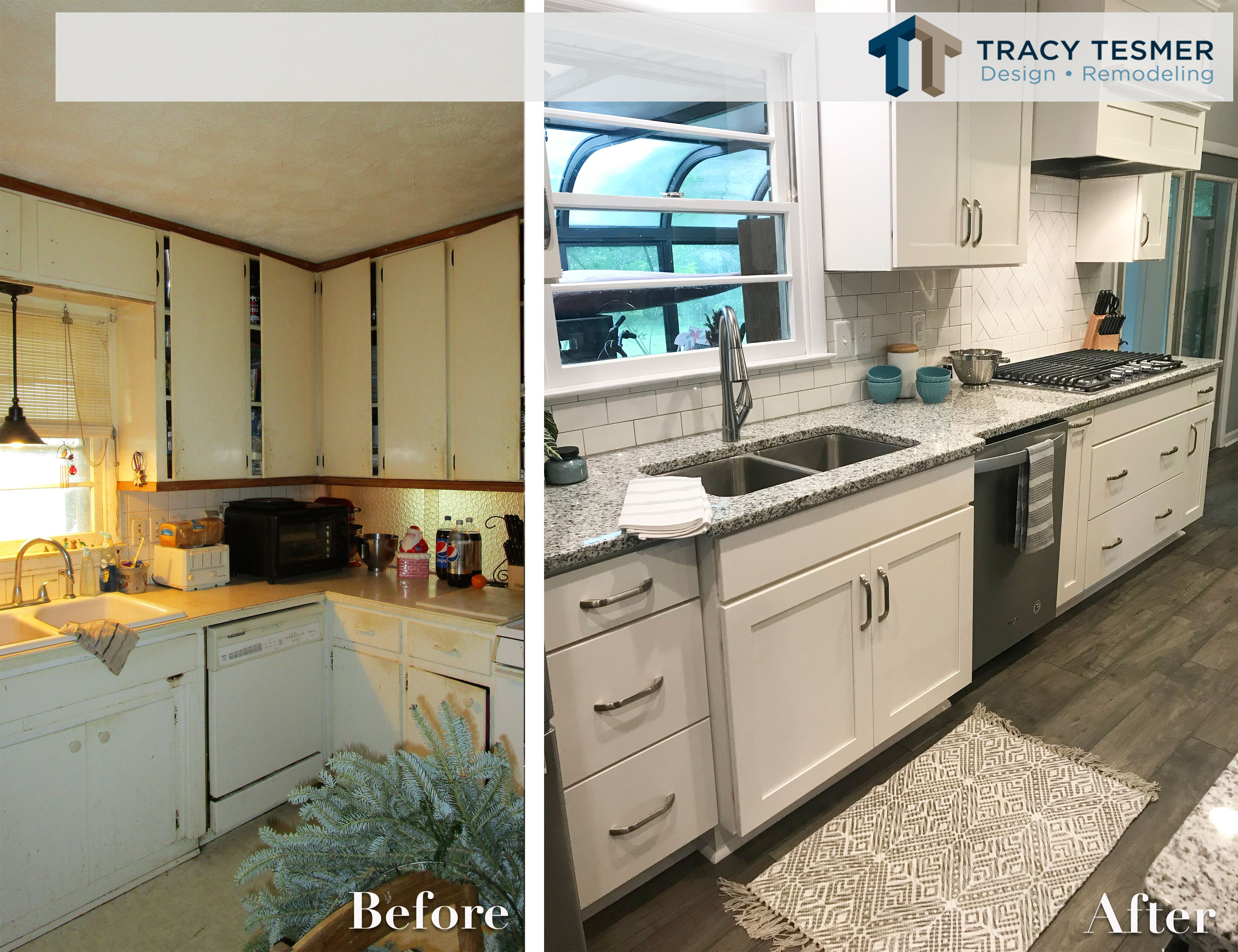 Here Is A Before And After Of A Recent Kitchen Remodel We Opened Up This Small Kitchen By Taking Do Home Remodeling Contractors Home Remodeling Kitchen Design