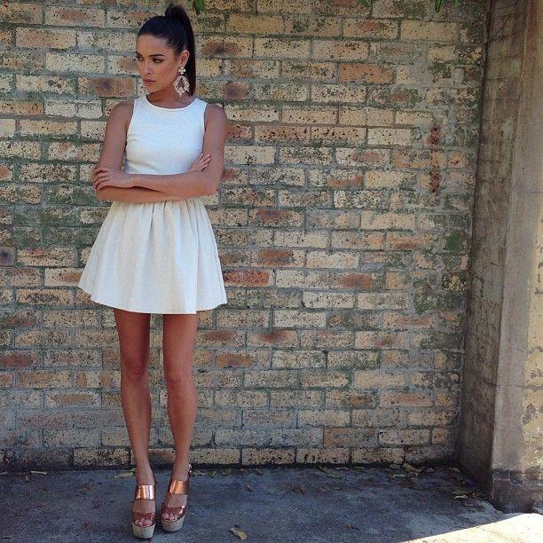 Little white dress | Sabo skirt, White