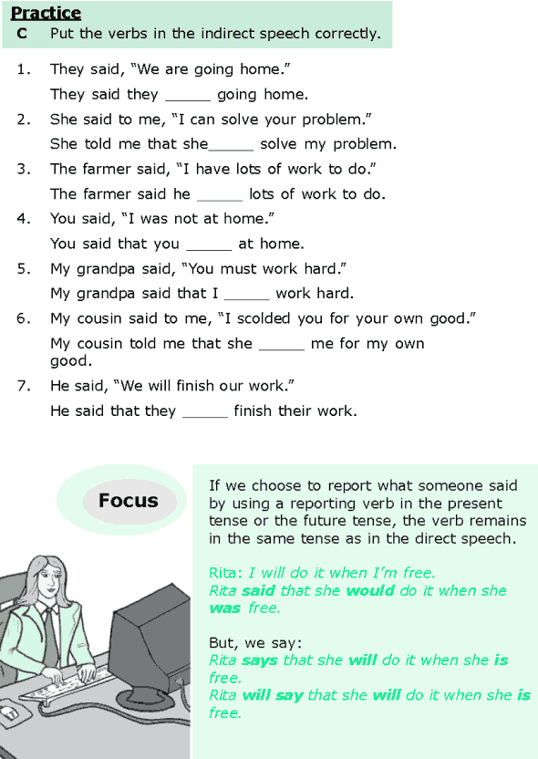 Grade 6 Grammar Lesson 13 Direct And Indirect Speech 3 Live And