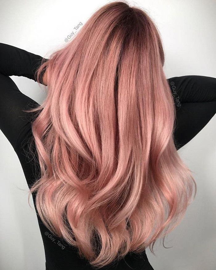 Pretty Pastel Hair Colors To Dye For Hair Coloring Dusty Pink